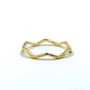 Gold Thin Crown Ring