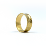 Gold Concave Ring