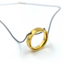 Circle Of Life Double Ring Gold & Gunmetal