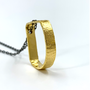 Circle Of Life - Single Teardrop Sq. Gold & Gunmetal