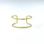 Medium Double Wire Cuff  Gold