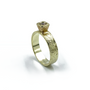 14K Gold ring with round cut diamond