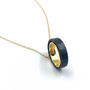Circle Of Life Necklace Gold & Oxidized Silver
