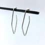 Sterling Silver Large Eve Wire Hoops