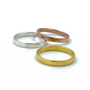 Gold, Sterling Silver and Rose Gold 2mm Band Stackable Rings