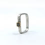 Square Ring a Cube Rough Cut Diamond Set in 14K Gold