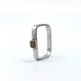Square Ring a Cube Rough Cut Diamond Set in 14K Gold