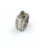 Square Royal Ring With Two Rough Cut Diamonds