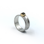 Concave Ring With Cube Rough Cut Diamond