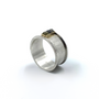 Ring With Rims And Rough Cut Diamonds