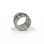 Wide Ring With Circle Of Rough Cut Diamonds