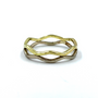 14K Gold And White Gold Double Thin Crown Ring