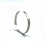 Sterling Silver Thin Straight Cuff - Branch Texture