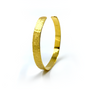 Gold Thin Straight Cuff - Branch Texture