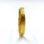 Gold Thin Straight Cuff - Branch Texture