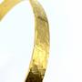 Gold Thin Straight Cuff - Crosshatch Texture