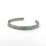 Sterling Silver Thin Straight Cuff - Crosshatch Texture