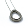Circle Of Life Double Silver Teardrop