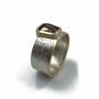 Rustic Orange Natural Diamond Set in 14K Gold & Sterling Silver Ring