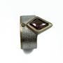 Rustic Orange Brownish Kite Natural Diamond Set in 14K Gold & Sterling Silver Ring