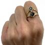Rustic Salt & Pepper and Rustic Gray Natural Diamonds Set In 14K Double Split Ring
