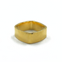 Gold Square Ring 6mm Wide