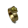 Rustic Yellowish Natural Diamond Set In 14K Gold Ring