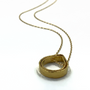 Circle Of Life Double Teardrop Gold Necklace