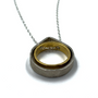 Circle Of Circle Teardrop With Ring Silver and Gold Necklace
