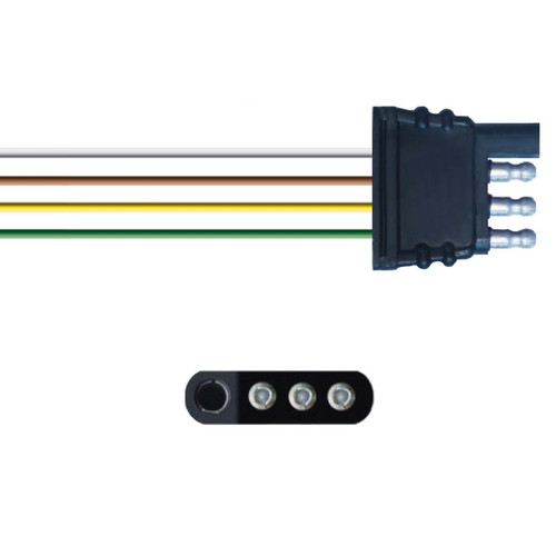 """Four Wire Pigtail Plug with 14"""" Wires"""