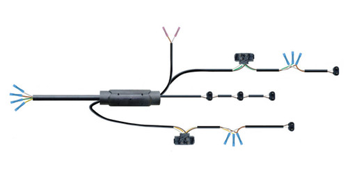Complete Rear Single Light Wire Harness