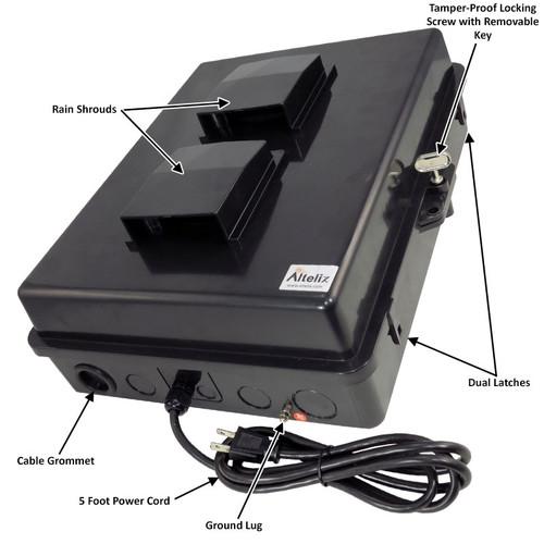 SMALL Outdoor Amplifier Enclosure (VSSL & SONOS) GREY