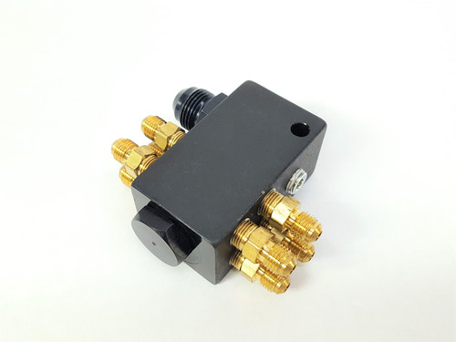 8 Port Top Hat Distribution Block with Fittings