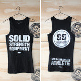 WOMENS RIBBED SINGLET BLACK