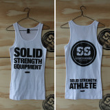 WOMENS RIBBED SINGLET WHITE