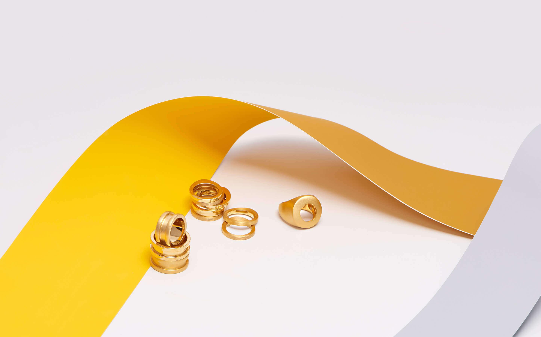 22 and 24 karat gold rings