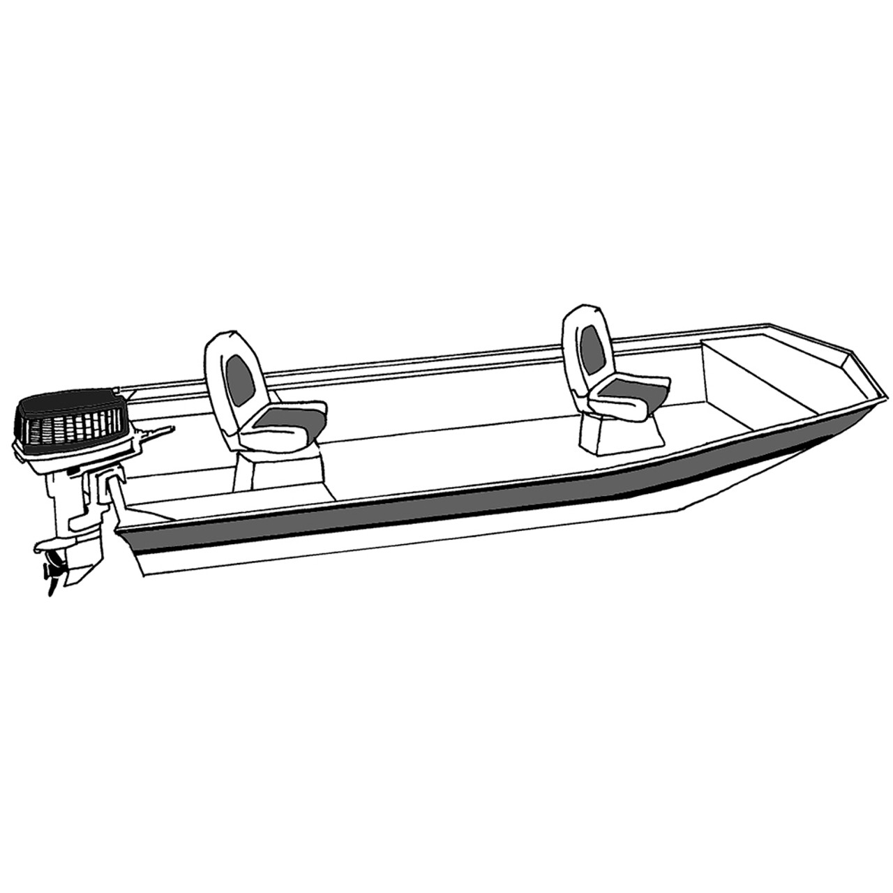 Carver Performance Poly-Guard Styled-to-Fit Boat Cover f