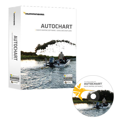 Humminbird Autochart DVD PC Mapping Software w\/Zero Lines Map Card [600031-1]