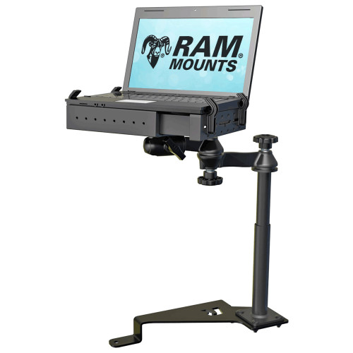 RAM Mount No-Drill Laptop Mount Vehicle System f\/17-20 Ford F-Series + More [RAM-VB-195-SW1]