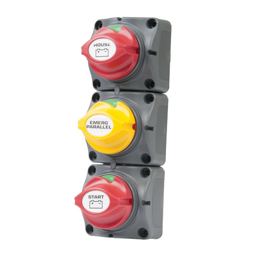 BEP Battery Distribution Cluster f\/Single Engine w\/Two Dedicated Battery Banks - Vertical Mount [715-V]
