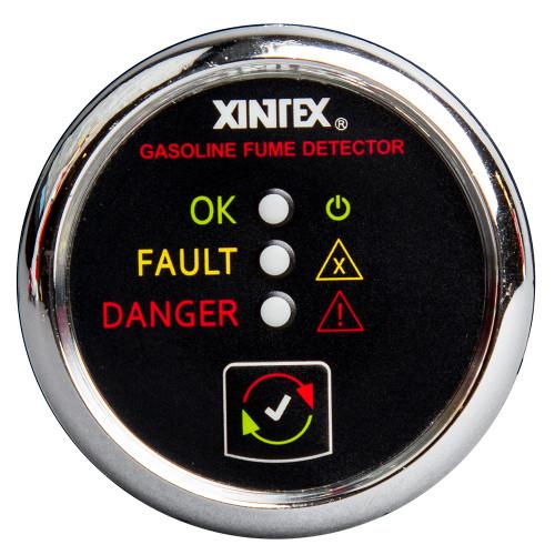 Xintex Gasoline Fume Detector & Alarm w\/Plastic Sensor - Chrome Bezel Display [G-1C-R]