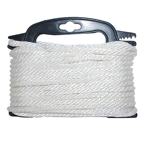 "Attwood Braided Nylon Rope - 3\/16"" x 100' - White [117553-7]"