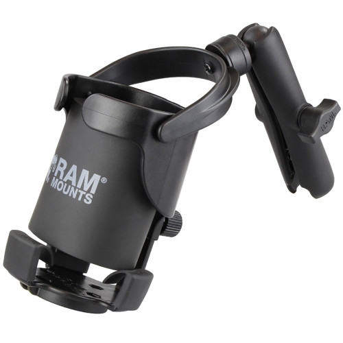 RAM Mount Level Cup XL w\/Long Double Socket Arm [RAM-B-417B-C-201U]