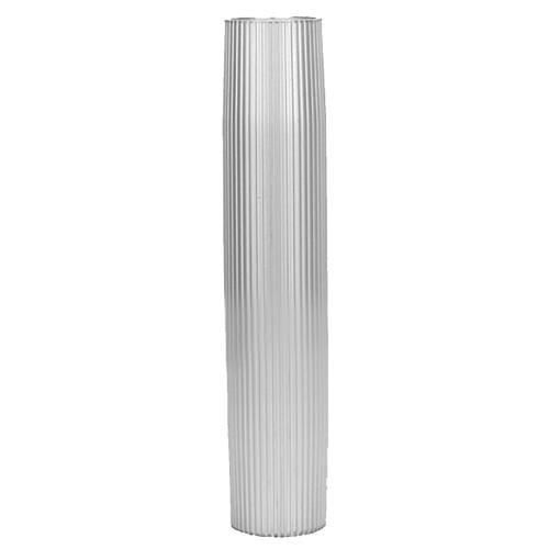 "TACO Aluminum Ribbed Table Pedestal - 2-3\/8"" O.D. - 27-1\/2"" Length [Z60-7279VEL27.5-2]"