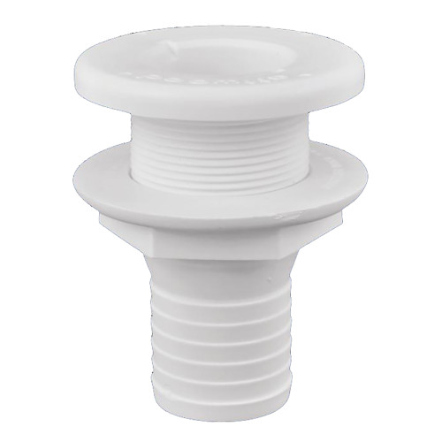 "Attwood Plastic Thru-Hull Fitting - 1-1\/2"" - White [3875-3]"