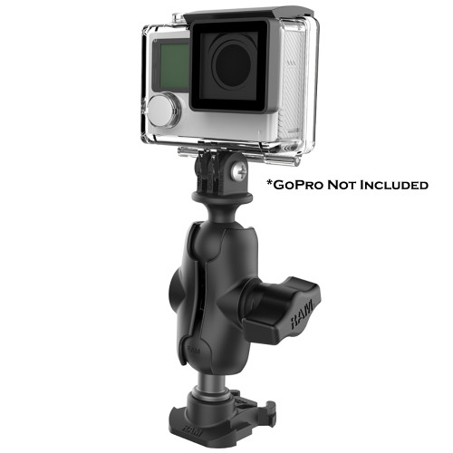 """RAM Mount RAM 1"""" Ball Adapter for GoPro Bases with Short Arm and Action Camera Adapter [RAP-B-GOP2-A-GOP1U]"""