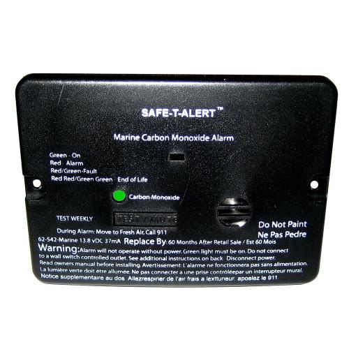 Safe-T-Alert 62 Series Carbon Monoxide Alarm - 12V - 62-542-Marine - Flush Mount - Black [62-542-MARINE-BLK]