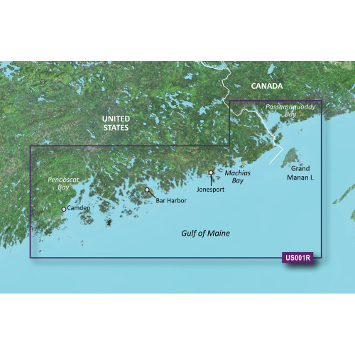 Garmin BlueChart g3 Vision HD - VUS001R - North Maine - microSD\/SD [010-C0702-00]