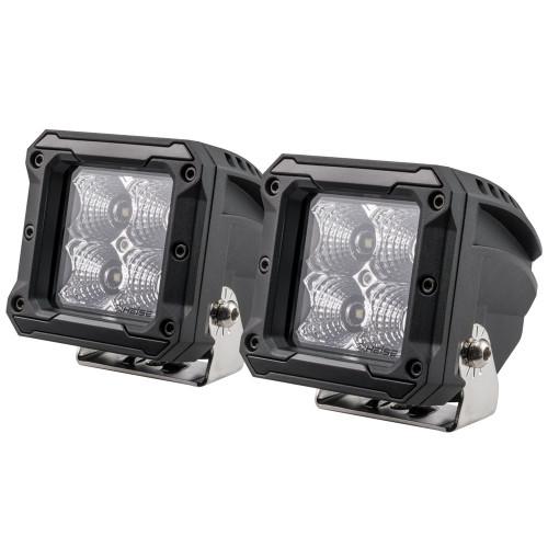 """HEISE 4 LED Cube Light - Flood - 3"""" - 2 Pack [HE-HCL22PK]"""