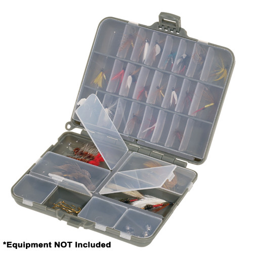 Plano Compact Side-By-Side Tackle Organizer - Grey\/Clear [107000]